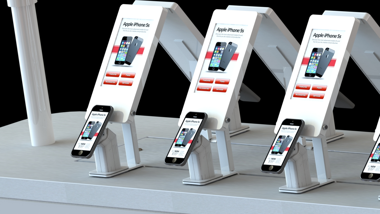 Wireless retail environment with interactive digital fact tags, and interactive digital signage on device